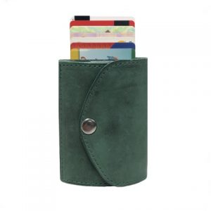 odinė šviesiai žalios spalvos vyriška piniginė su kortelėmis 2