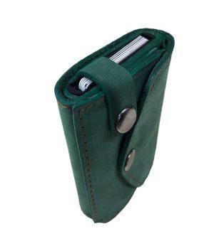 žalia vyriška piniginė su dirželiu