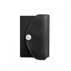juoda odinė piniginė be centinės nugara