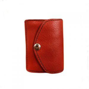 moteriška raudona odinė piniginė 4