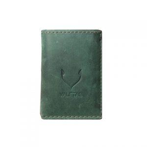 vyriška žalia piniginė iš priekio