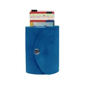 mėlynos piniginės nugara